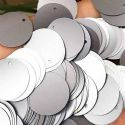 Sequins, grey, Diameter 30mm, 47 pieces, 10g, Disc shape, Sequins are NOT shiny, [CZP551]